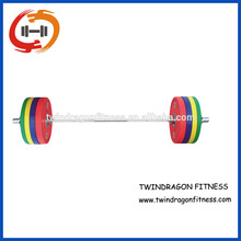 Male Competition weightlifting barbell set with bumper plate for competiotion use