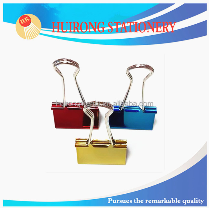 32mm bright color metallic foldback binder clips
