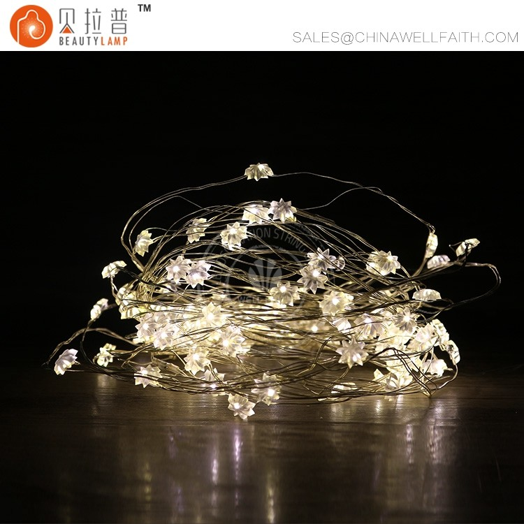 Beatiful sunflower indoor led fairy copper wire string lights