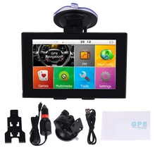 GPS Navigation for Car, 5 Inch Touch Screen Voice Reminding Vehicle tracker gps Navigator Lifetime Free Map
