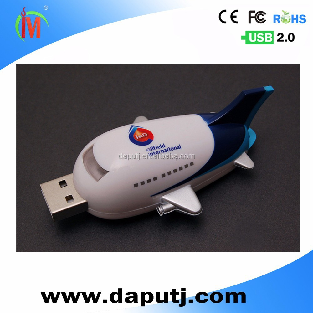 free samples airplane shape usb flash disk factory supply