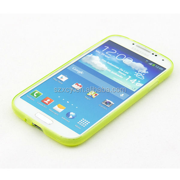S curve TPU back cover phone case for samsung galax s4