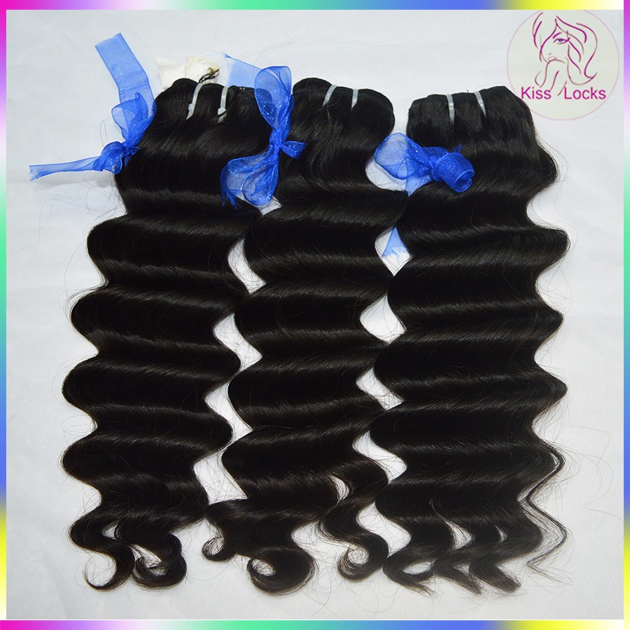 "Beauty Supply Store 100 Indian Raw Hair Customized Size 6""-36"" Ocean Sea Wave Single Donor Virgin Hair New Premium Hair Products"