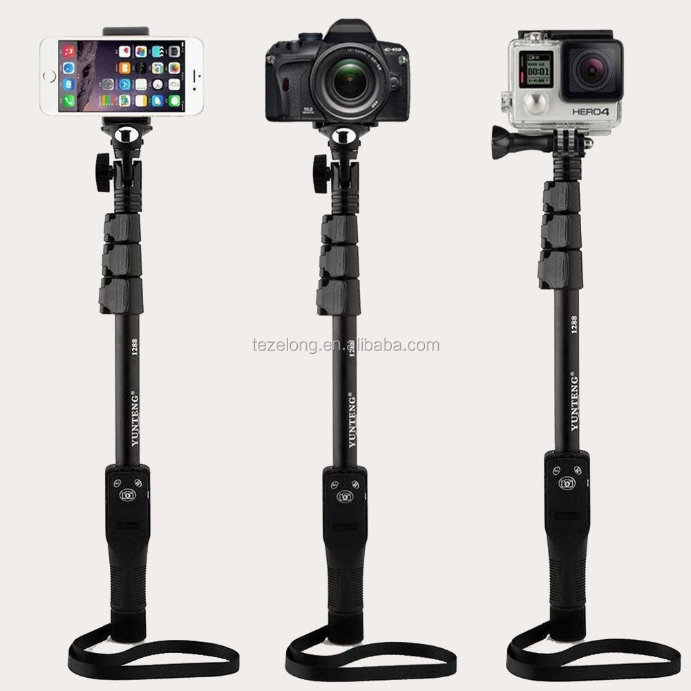 hot sale yunteng 1288 extendable self portrait selfie stick monopod bluetooth remote shutter for iphone