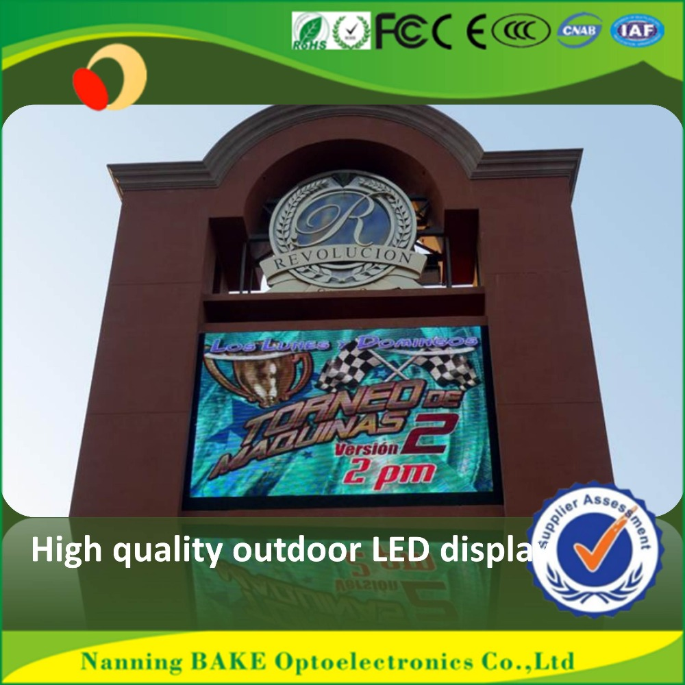 P16 outdoor high brightness advertisement led display large led digital wall clock