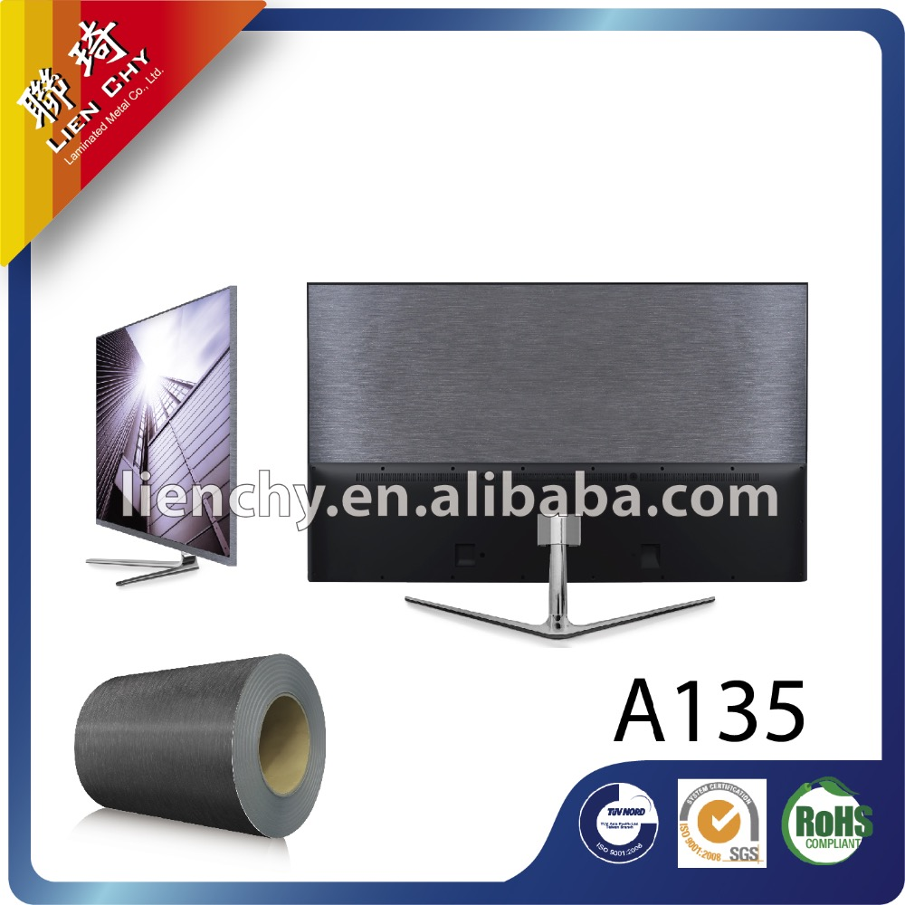 A135 Metallic Hairline laminated steel sheet / coil for home appliances