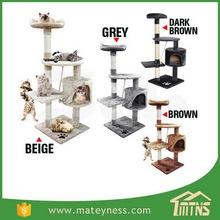 Cat Jumping Toy Scratching Wood Climbing Tower Cat Tree