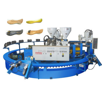 Two colors PCU and PVC sandals making machine