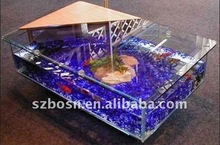 Square Acrylic Fish Tank of Table Usage