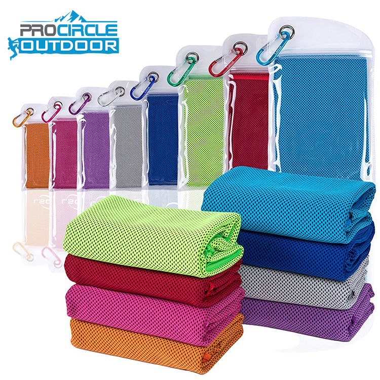 Hot Selling PVA Zipper Ice Cooling Towel