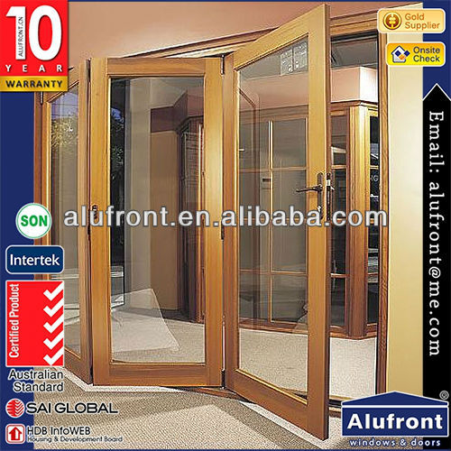 aluminium <strong>wood</strong> bi fold door for veranda