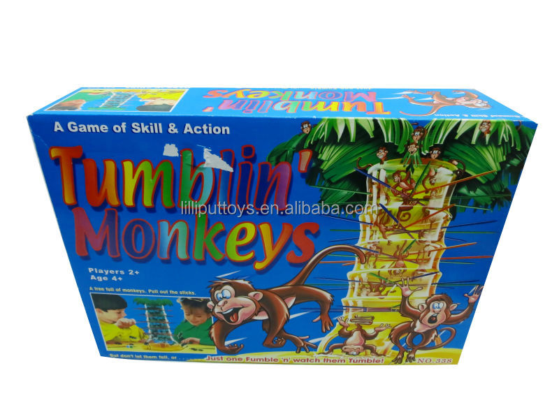 2013 Hot sell Educational toy, Tumblin monkeys,falling monkey game