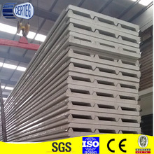 60mm thickness eco-friendly lightweight patented product foam concrete panel pu sandwich panel