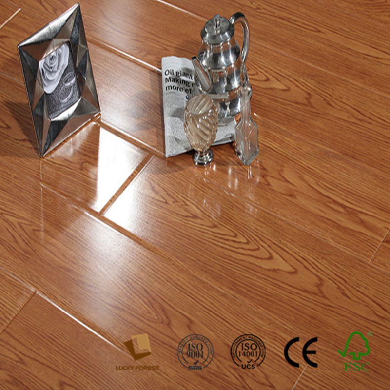 oak wood yellow high gloss glitter laminate flooring manufacturers china