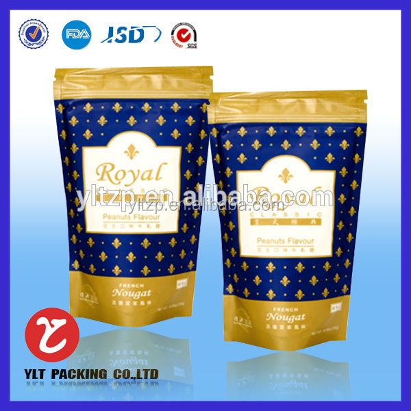 NO.2712 aluminum foil stand up pouch for food packaging