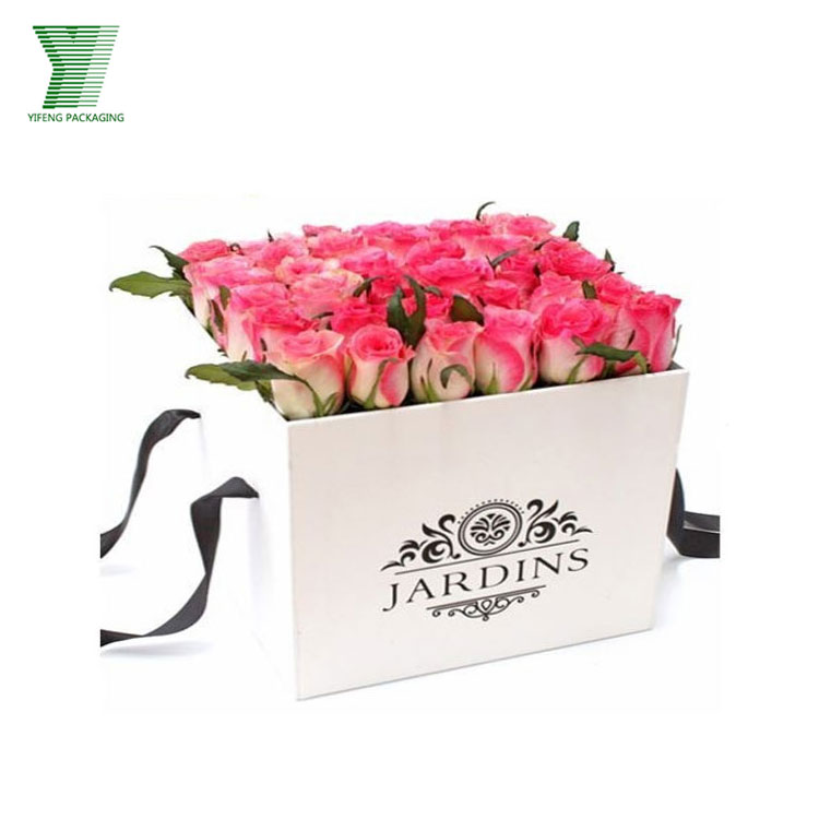 Custom style design flower packaging box cardboard flower gift box