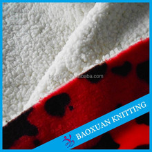 340gsm sherpa bonded fleece fabric
