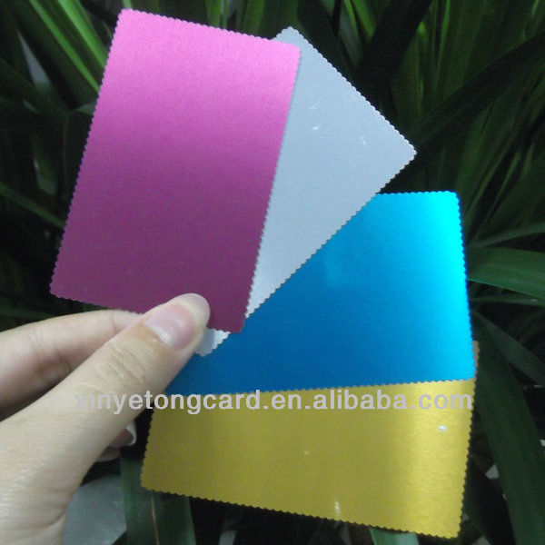 Aluminum Business Card Blank Metal Card