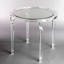 beautiful small round new clear acrylic chair