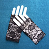 Short Fingerless Lace Gloves Black Cheap Lace Gloves