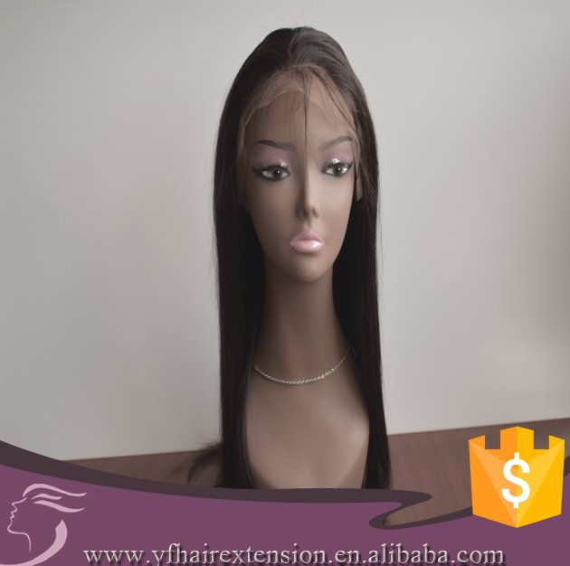 Beautiful Full Cuticle Silky Straight Cheap Virgin Brazilian Human Hair Wig Lace Front