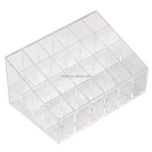 Clear Cosmetic Stand 24 Lipstick Organizer Nail Polish Makeup Case Display Rack Holder