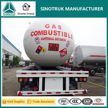 Top Safety Propane Transport Tank Tri-axle 56m3 LPG tanker trailer for Sale
