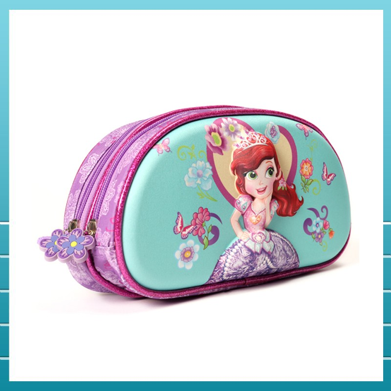 Hot selling teenage girls pencil case with two compartment