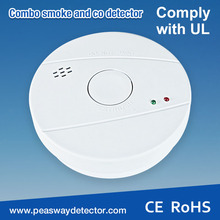 ac mains powered smoke alarm PW-521 with backup 9V battery