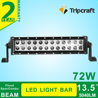hot sale 13.5 inch 72w 4x4 light led spot/flood/combo light bar for off road/trucks/SUV/ATVs/Agricultural vehicle