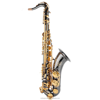 MTS-306 black nickel tenor sax with golden key from China