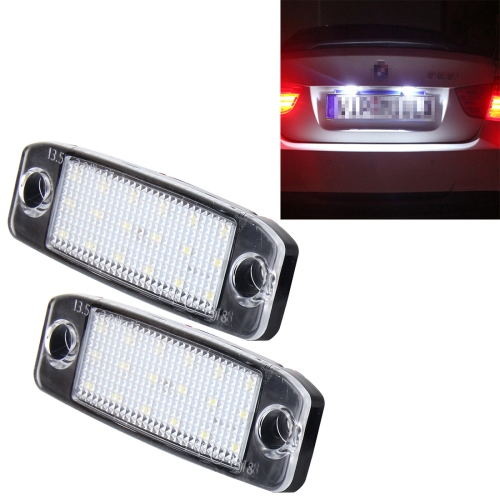 Free sample 2 PCS LED License Plate Light with 18 SMD-3528 Lamps for Hyundai Sonata,2W 120LM,6000K, DC12V