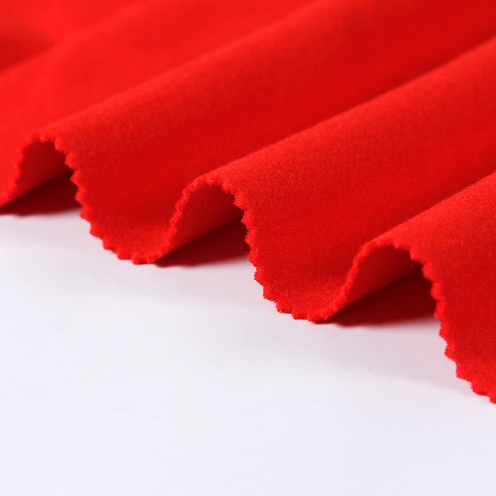 best wool like double face brushed fabric for winter cloth / high quality tr melton wool hand feel fabrics manufacturer