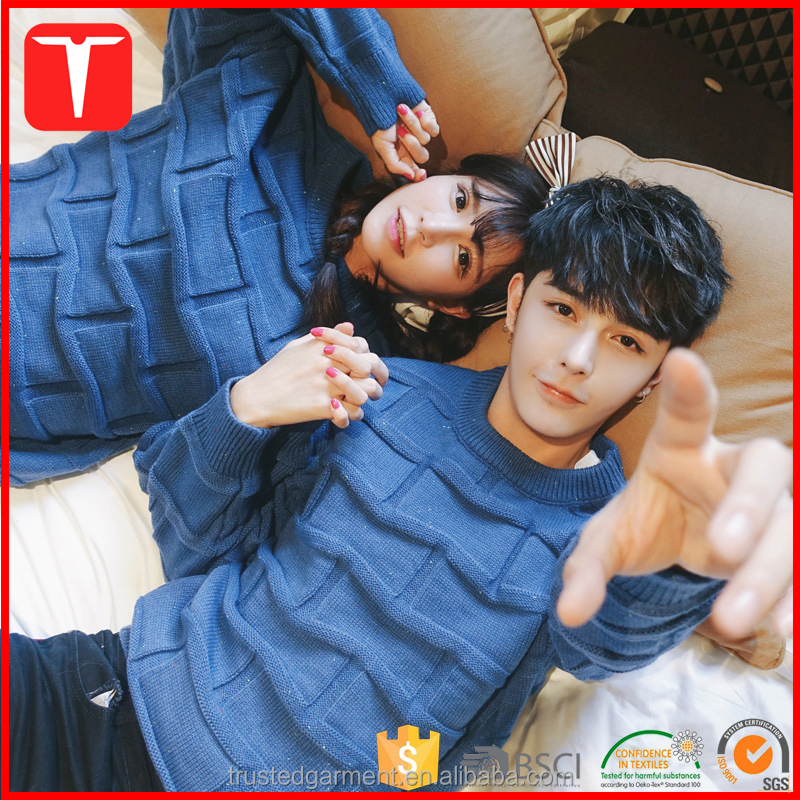 Korean fashion pullover sweaters for couple