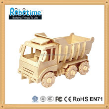 Children toy car Wooden DIY Vehicles Educational Puzzles for Kids