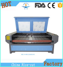 NC-F1810 high quality cheap fabric laser cutting machine/wool felt laser cutting machine