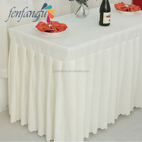 Elegant Decorative Table Skirt Wedding banquet, metting table skirt