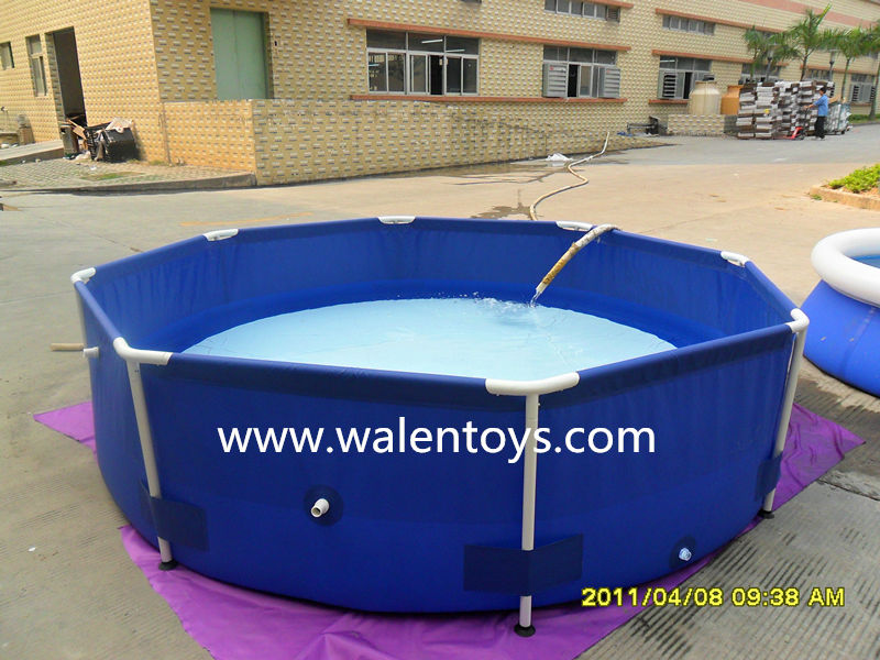 Pvc swimming pool above ground swimming pool plastic fish for Swimming pool koi pond conversion