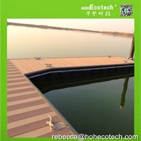 waterproof long service life wood composite decking for pontoon/composite wood flooing/dock decking flooring