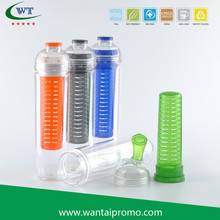 HS-1962 800ML Tritan Water Fruit Bottle With Fruit Infuser Bottle