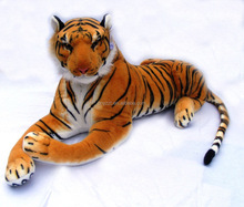 free sample lifelike tiger toys Best Made Toys Giant Stuffed Tiger Animal Big Orange Tiger Plush 75cm/90cm/130cm tiger toys