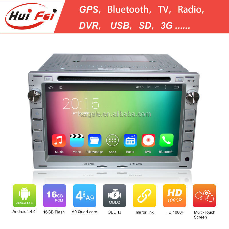 Huifei Android4.4.4 Quad Core touch screen car stereo for VW Golf4/Polo with mirror link,GPS,Radio function