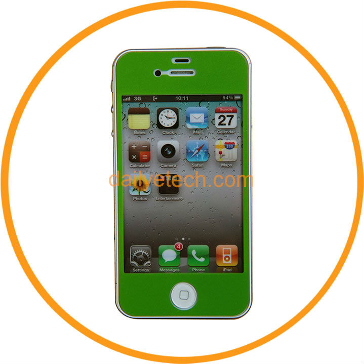Colorful Screen Protector Film Skin Guards for iPhone 5 5G Mobiles Green from Dailyetech
