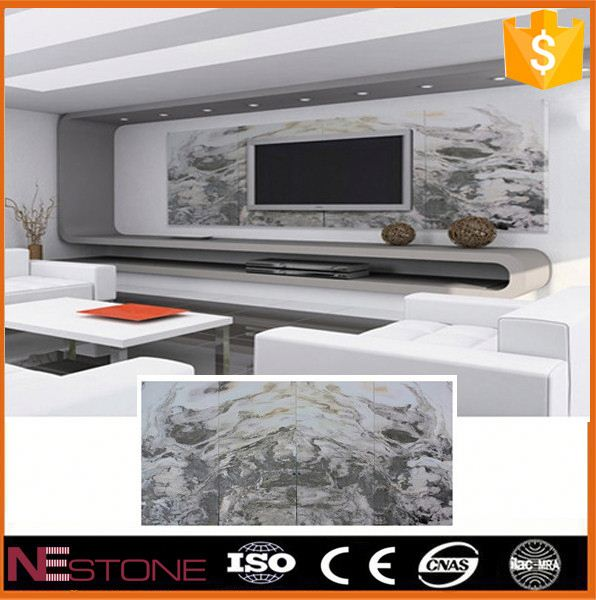 "Top quality flooring design S""shape mocha cream marble for bar and living room"
