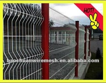 pvc coated welded mesh with bending pannel and post