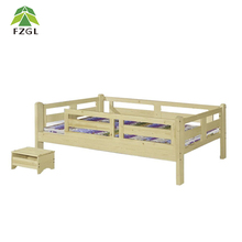 Bedroom Furniture Single bed wooden toddler bed with guard rails