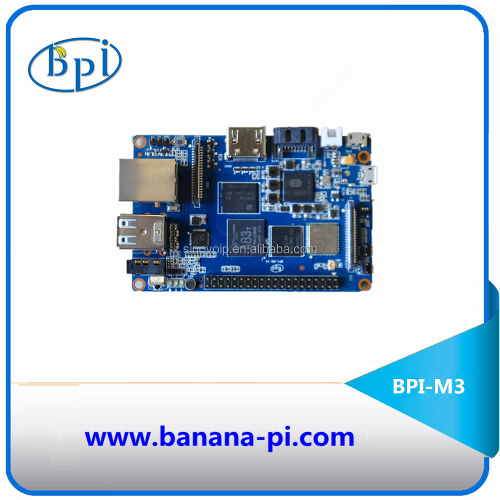 Banana PI M3 with Allwinner Octa Core chipset integrated WiFi and Bluetooth 3.0