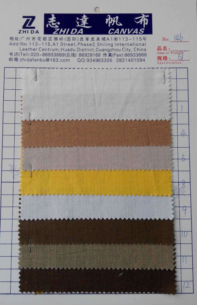 guangzhou zhida fabric recycled 20oz cotton duck canvas fabric wholesale