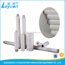 Optional 10 20 30 40 50 60 inch string wound polypropylene filter cartridge for 1 micron solvent filtration