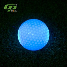 New product compression 80%-90% gold-plated luminous golf LED night pay ball
